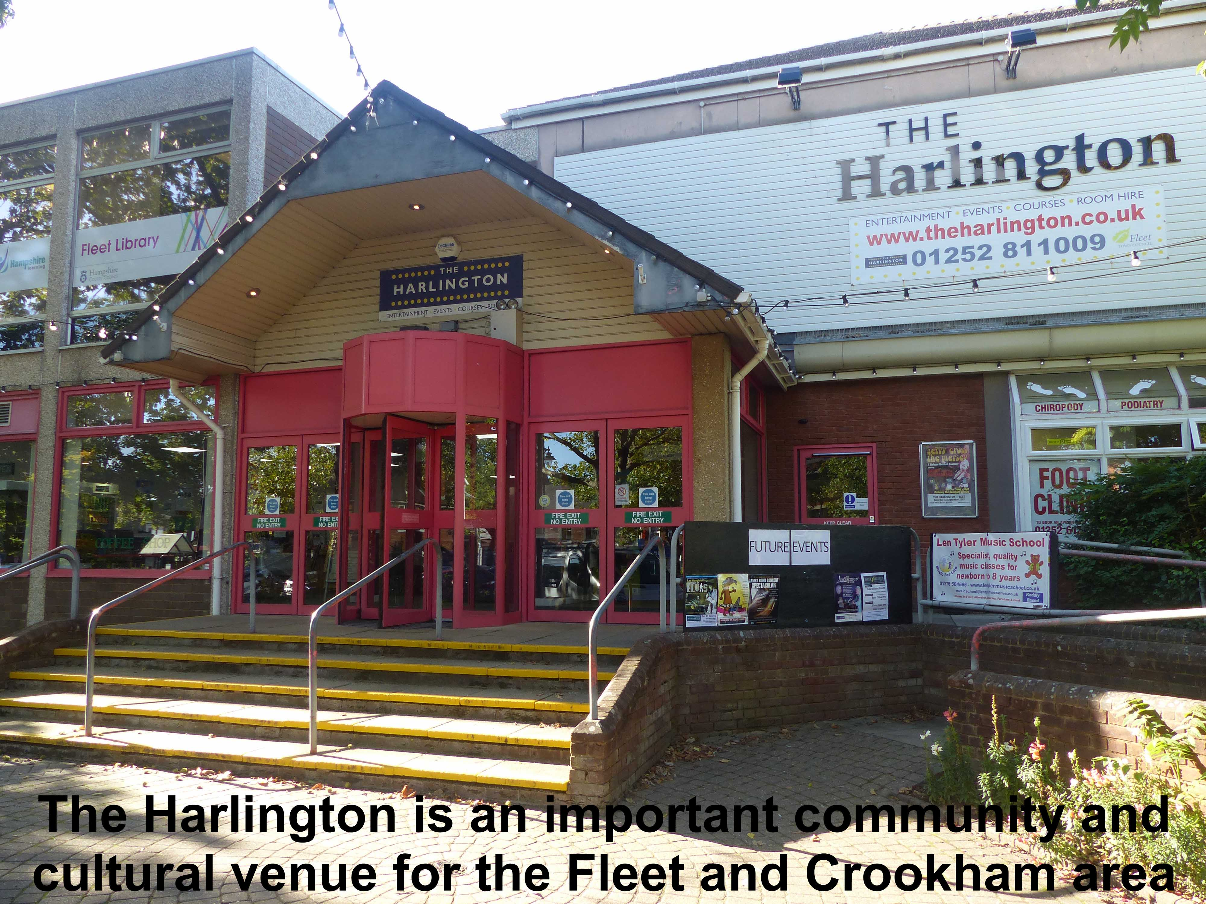 The Harlington is an important community and cultural venue for the Fleet and Crookham area